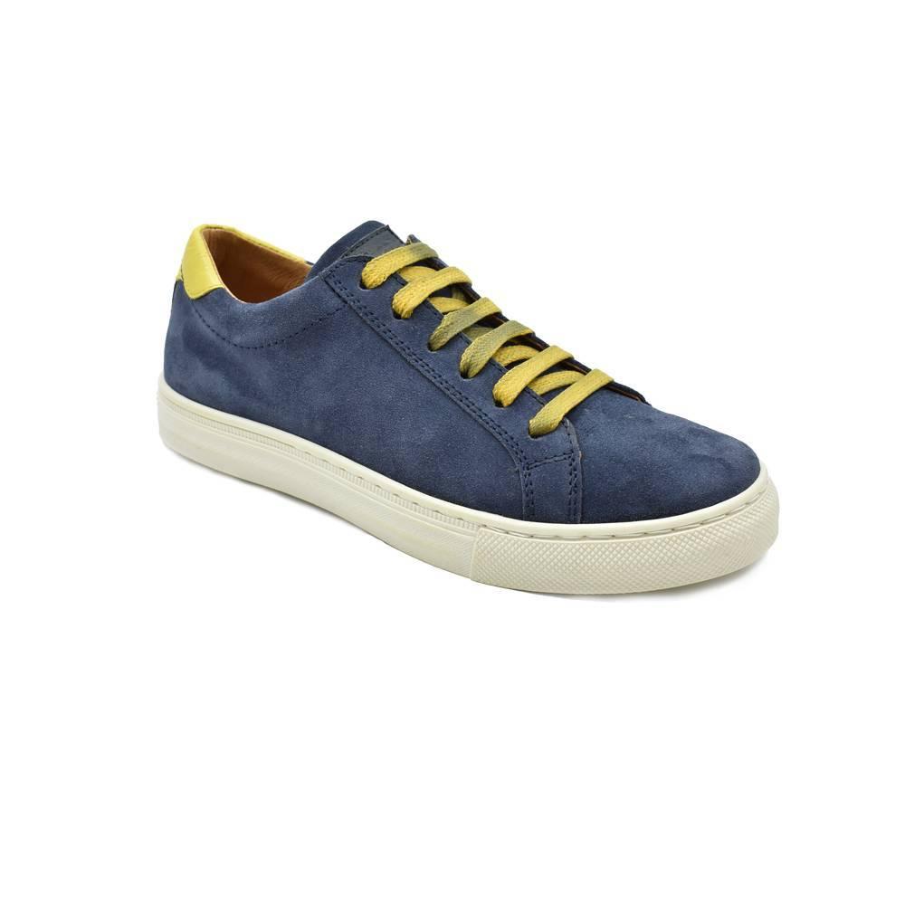 Кроссовки для мальчика Froddo демисезонные натуральная кожа замшивые на шнуровке G4130067/DARK-BLUE