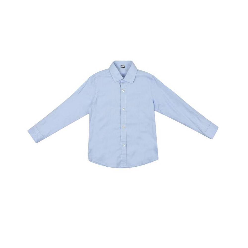Рубашка для мальчика iDO подросток классика школьная с платком 4.W383.00/3613