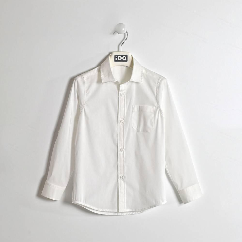 Рубашка для мальчика iDO подростка классика школьная регулируемая длина 4.W382.00