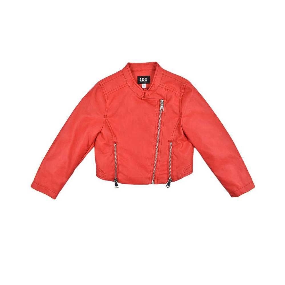 Куртка бомбер для девочки iDO подросток экокожа 4.W574.00/2256