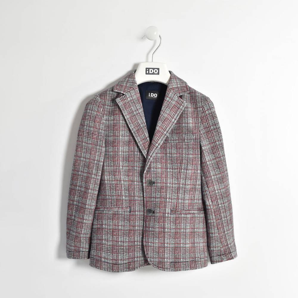 Пиджак для мальчика iDO стильная клетка 4.W433.00/6GP2