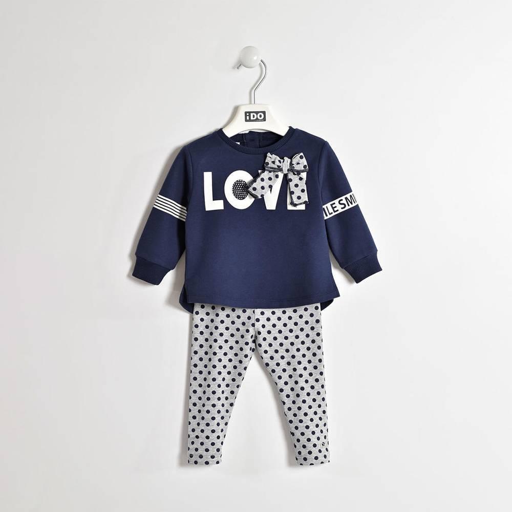 Комплект для девочки iDO костюм трикотажный туника длинный рукав леггинсы 4.W271.00/8299