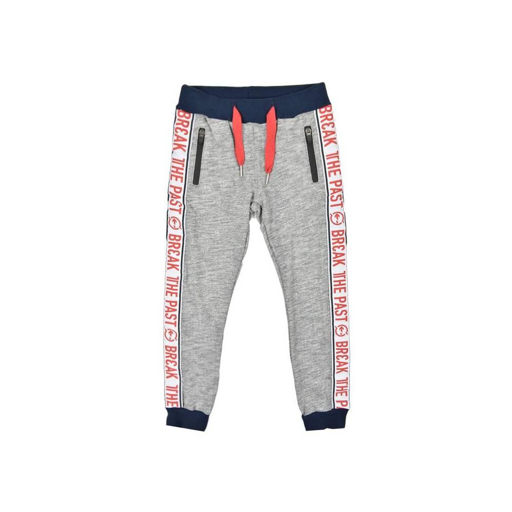 Штаны для мальчика iDO спортивные трикотаж серый меланж 4.W415.00/8865