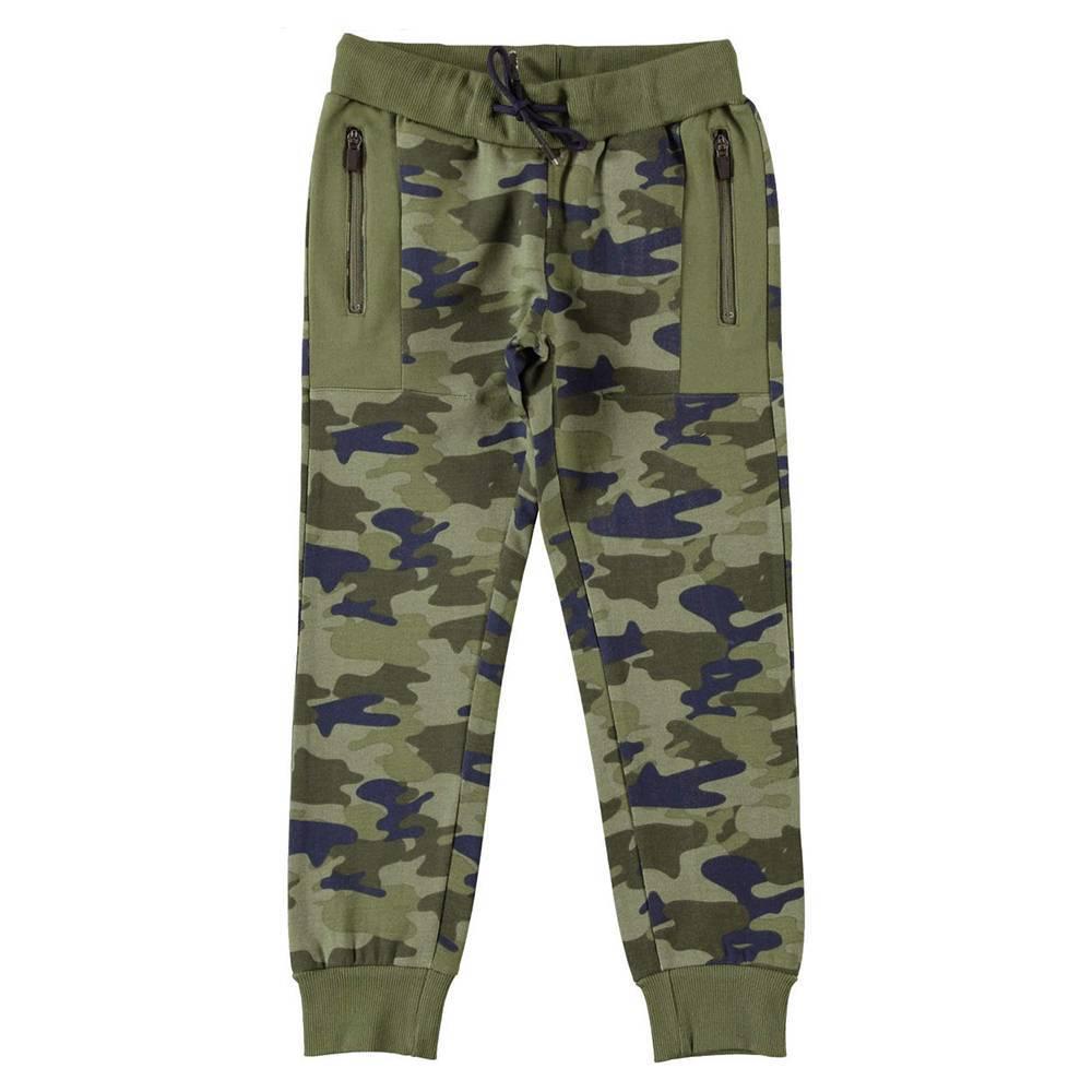 Штаны для мальчика iDO спортивные трикотаж хлопок камуфляжный рисунок 4.W421.00/6FT8